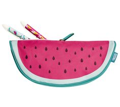 Add a slice of fun to your stationery with this gorgeous Watermelon Pencil Case