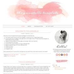 INSTANT DOWNLOAD blogger template  the annabelle di DinosaurStew