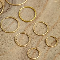 Gold Hoops, Gold Hoop Earrings, Swept Back Hair, Gold Wire, Solid Gold, Jewelry Design, Handmade, Beautiful, Hand Made