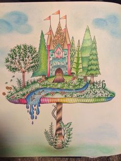 Johanna Basford | Colouring Gallery enchanted forest book by me