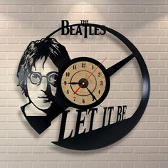 The Beatles art vinyl wall record clock