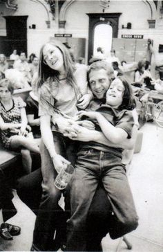 Steve McQueen with his children.