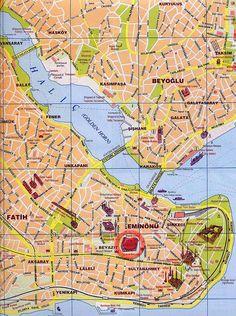Mappa di Istanbul - Cartina di Istanbul