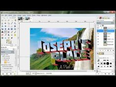 How to Create a Retro Postcard Design in Gimp 2.8 - YouTube