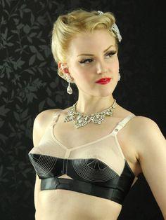 59eac6cb4910f Marlene bullet bra by What Katie Did Lingerie Noire