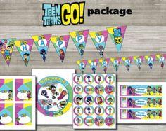 Instand DL - Teen titans GO paquete de cumpleaños para imprimir-imprimible (no personalizadas)