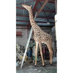 Jirafa artificial esculpida a mano Artificial, Fauna, Taxidermy, Mammals, Felt Giraffe, Animals