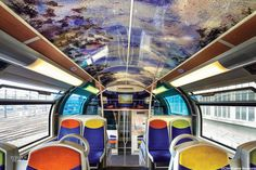 Adkeys. A Claude Monet work printed on 3M vinyl film to reinvent a train car belonging to the French SNCF. Photography by Maxime Huriez