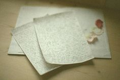 hand written love letter.