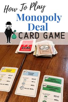 Monopoly Deal is a light, fun card game that takes about 15 minutes to play. It is all about collecting properties and stealing from your opponents! Games To Play With Kids, Fun Card Games, Action Cards, Getting Played, The End Game, Family Board Games, Money Cards, Family Game Night, Educational Games