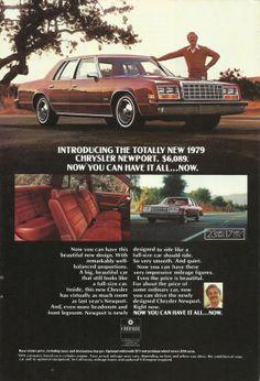 1979 Chrysler Newport Automobile Original 1978 by VintageAdOrama, $9.99