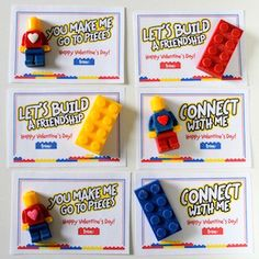 Learn how to make edible LEGO-inspired bricks and minifigures to attach to super-cute printable valentines.