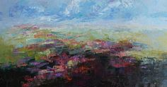 Perfect Day abstract floral landscape by Kay Wyne