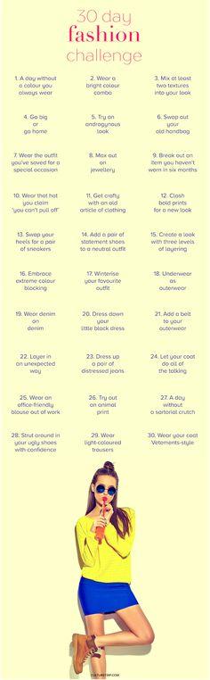30 Day Fashion Challenge