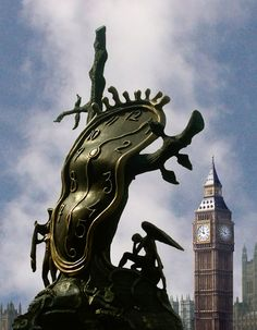 Dali clock, South Bank, London