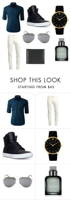 """""""Untitled #93"""" by shreya-markande ❤ liked on Polyvore featuring LE3NO, Yves Saint Laurent, Supra, Larsson & Jennings, Calvin Klein, Ettinger, men's fashion and menswear"""