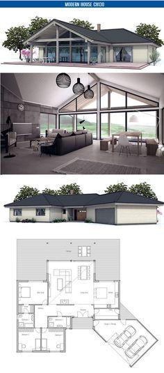 Plan de petite maison http://www.m-habitat.fr/travaux-de-gros-oeuvre/architecte-et-constructeur/le-plan-de-construction-d-une-maison-2483_A