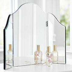 Chambre avec miroir sur pinterest fauteuils inclinables - Meuble coiffeuse avec miroir conforama ...