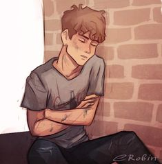 An exhausted Adam Parrish by enotrobin.tumblr.com Awwww. The poor kid never gets enough sleep. He can probably fall asleep anywhere. #TheRavenCycle #TRC #AdamParrish