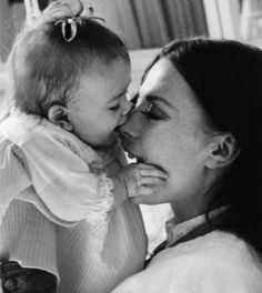 Natalie Wood in a tender moment with daughter Natasha