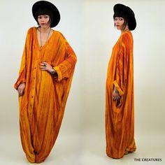 Vintage ethnic avant garde cocoon jumpsuit.