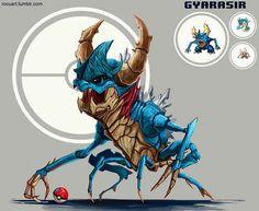 Gyarasir | 43 Pokemon Mash-Ups That Are Better Than The Real Thing