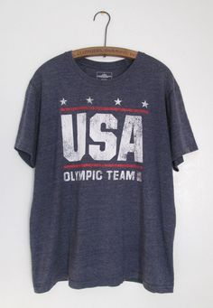 29f0c6bef8e USA Olympic Team Apparel Blue Cotton Blend T-Shirt Large   UnitedStatesOlympicTeamApparel  Olympics
