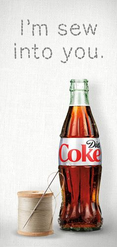 My day is only sew-sew until my first sip of Diet Coke.