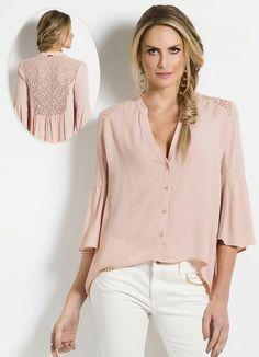 Camisa Colcci (Rosa) com Renda
