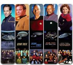 Star Trek Captains and their Ships & Crew