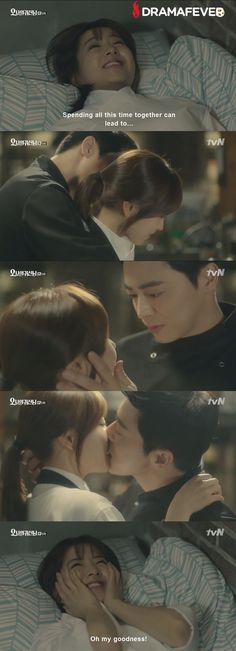 Omo! This scene in #OhMyGhostess was so hot! Watch on DramaFever tonight!