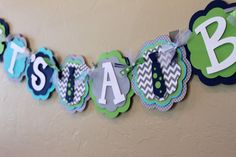 Little Man Neck Tie Chevron Stripe Polka Dot IT'S A BOY Banner Navy Blue Gray Turquoise Green Baby Shower Birthday Party BowTie Decoration by PaisleyGreer on Etsy Little Man Shower, Baby Shower Fun, Baby Shower Themes, Baby Shower Gifts, Shower Ideas, Chevron, Baby Shower Centerpieces, Baby Shower Decorations, Purple Bow Tie
