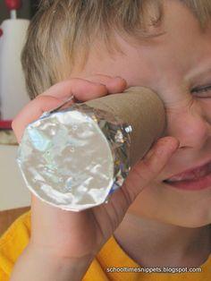 Kid science solar system activity: DIY Constellation Viewer, midwinter ideas, big dipper