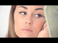 the beauty department, get catty: winged eyeliner tutorial video. How To Do Winged Eyeliner, Cat Eye Eyeliner, Cat Eye Makeup, Hair Makeup, Eye Liner, Liquid Liner, Winged Liner, Cat Eyes, Applying Eyeliner