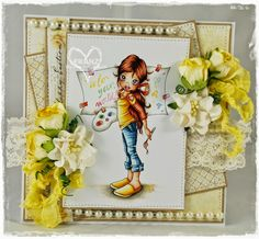 Franz-Blog: A New Canvas from SC and Yellow tones for The Ribbon Girl :)