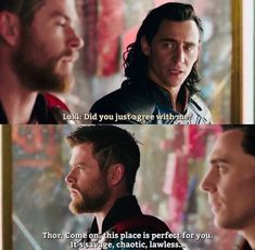 """""""Do you really think so little of me?""""  """"Loki I thought the world of you. I thought we were going to fight side by side forever, but at the end of the day, you're you and I'm me. I don't know, maybe there's still good in you, but our paths diverged a long time ago.""""  """"Yeah... probably best we never see each other again."""""""