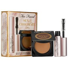 New Too Faced Sex & Chocolate Limited Edition Set Cool Makeup Looks, Love Makeup, Hair Makeup, Makeup Tips, How To Match Foundation, Perfect Foundation, All Things Beauty, Beauty Make Up, Sephora