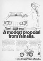 Yamaha Economical Motorcycle 1974 Ad Picture