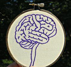Anatomy of the Brain Mini Hoop Art by heypaul on Etsy