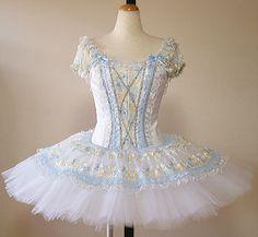 light blue and cream www.theworlddances.com/ #costumes #tutu #dance