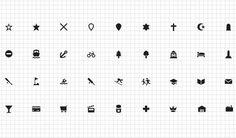 Maki, una colección con 73 iconos gratuitos de puntos de interés para cartografía