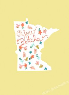 I LOVE MINNESOTA  digital print funny art print with by dazeychic, $20.00
