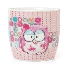Montage Owl Mug Pinned by www.myowlbarn.com