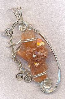 Sculpted Windows Jewelry Journal: Learning how to Wire Wrap Jewelry...starting out!