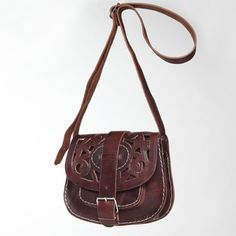 Tooled Leather Crossbody Bag 65