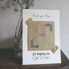 mother's day seed card by creative and contemporary handmade ...