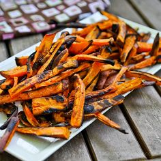 Crispy Baked Sweet Potato French Fries...perfect side dish for my Black Bean Burgers!!