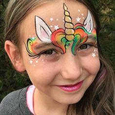 Rainbow hair unicorn ✨🦄✨ The post Rainbow hair unicorn ✨🦄✨ appeared first on Red Unicorn. Face Painting Unicorn, Girl Face Painting, Face Painting Designs, Painting For Kids, Paint Designs, Body Painting, Rainbow Face Paint, Hair Rainbow, Rainbow Painting