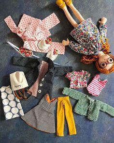 Doll Dressmaking Series: A Simple Trick Phoebe amp;Egg Doll Dressmaking Series: A Simple Trick Phoebe amp; Sewing Doll Clothes, Sewing Dolls, Girl Doll Clothes, Barbie Clothes, Girl Dolls, Rag Dolls, Barbie Barbie, Barbie House, Doll Dress Patterns