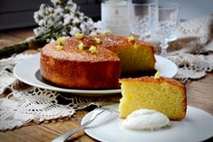 Lime, olive oil and yoghurt cake